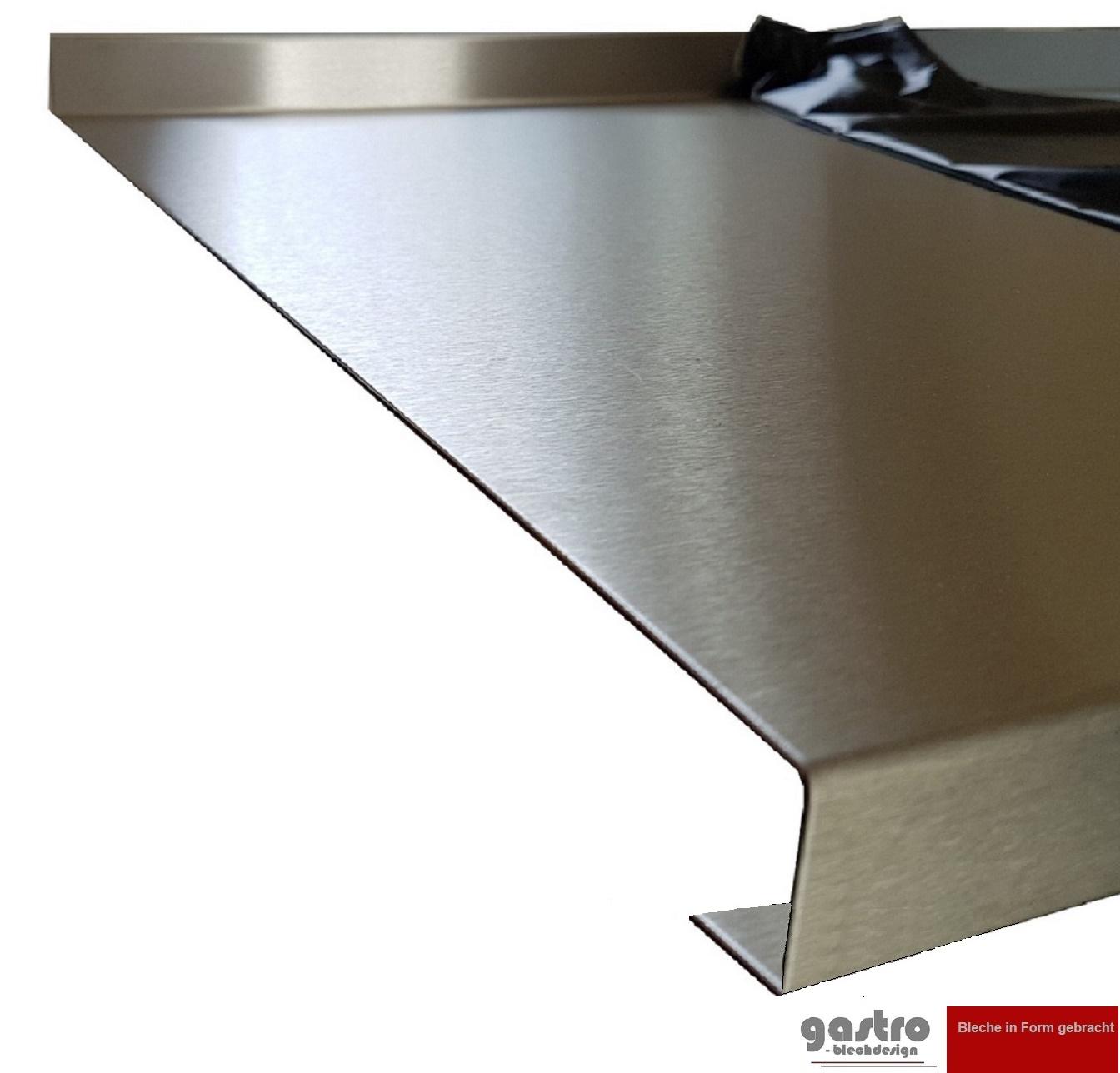 Gastro Blechdesign Edelstahl Tischabdeckung 1 5 Mm Abdeckplatte