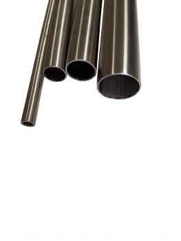 L/änge 1000mm K240 Edelstahl Rundrohr V2A /Ø 35x2mm 100cm auf Zuschnitt