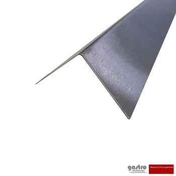 Stainless steel edge protection angle K240 sanded 1.5 mm thick