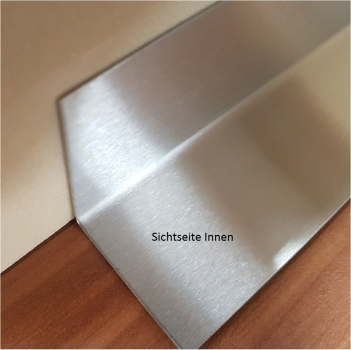 Stainless steel edge protection K240 honed 0.8 mm stainless steel angle