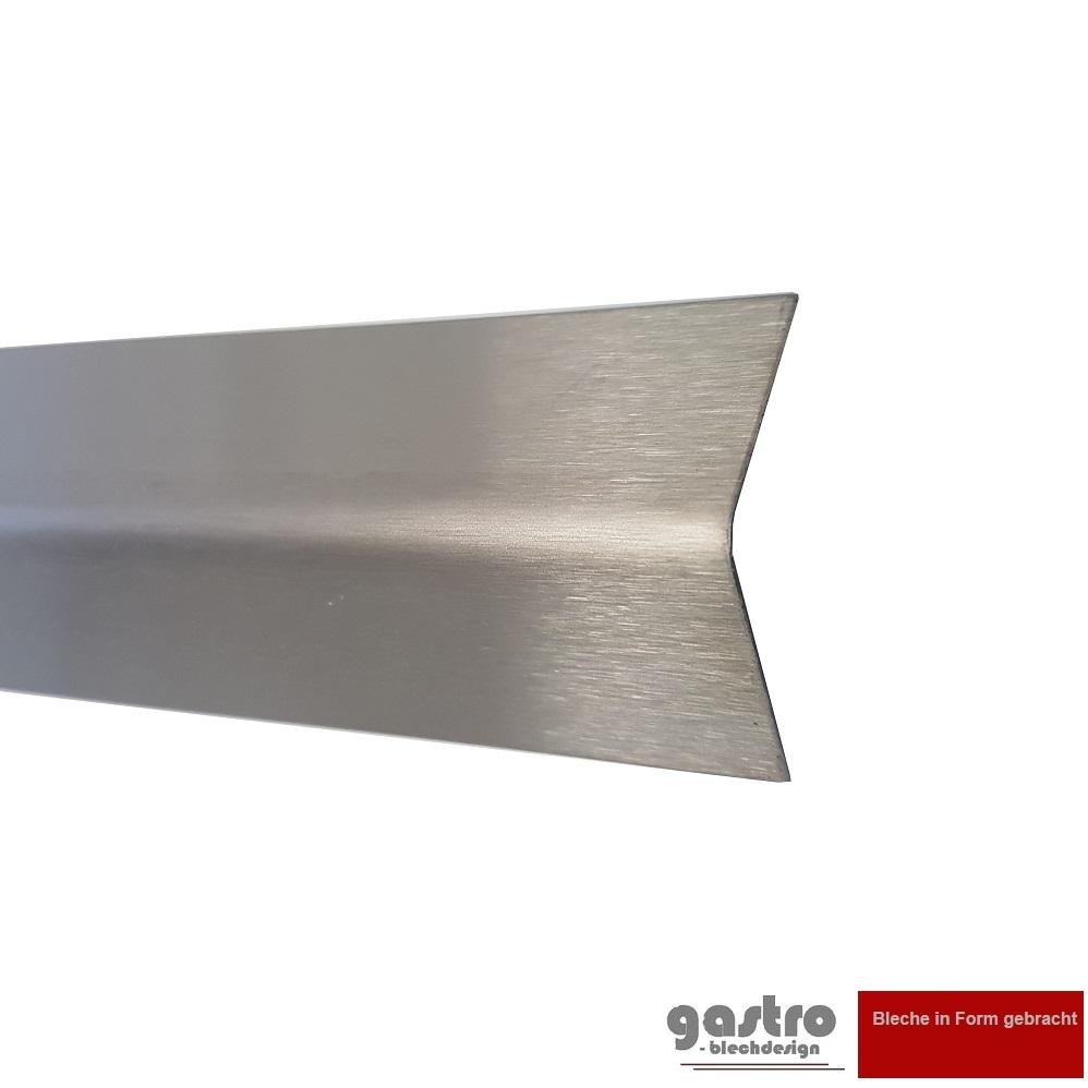1500mm Edelstahl Winkel K240 geschliffen V2A 0,8mm stark Winkelblech Kantenschutz,kreativ bauen