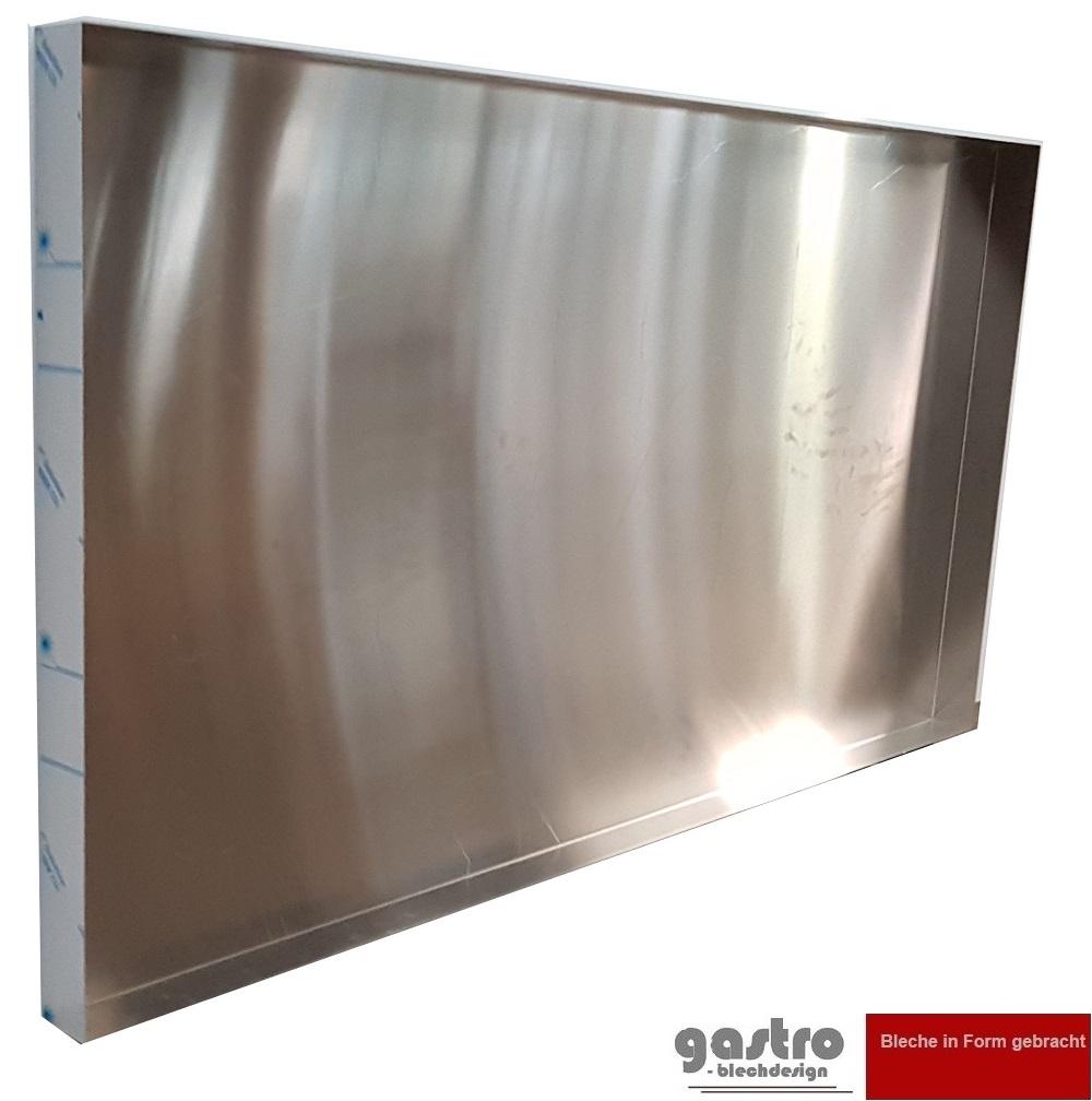 Aluminiumblech 100mm AlMg3  1,0 mm stark Aluminium Alu Platte Glattblech Blech W