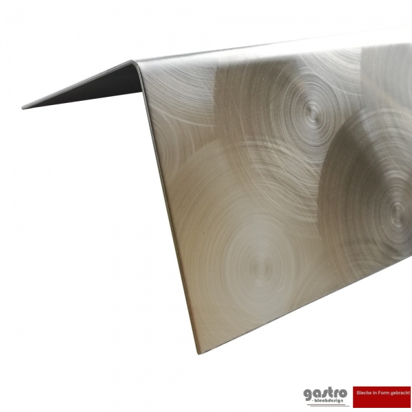 Stainless steel edge protection angle 0,8mm peacock eye design D50 marbled